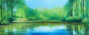John Connolly Wey At Moor Park panoramic painting for sale