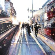 Alena Carvalho Evening Sunshine london city painting for sale