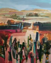 Celia Wilkinson Fading Summer desert landscape art for sale