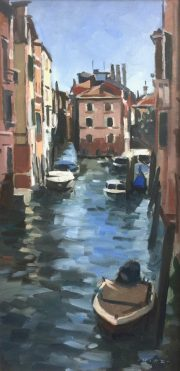 Andrew Hird Rio Della Panada From Fondamente Nove italian painting for sale