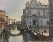 Andrew Hird Scuola Grande Di San Marco First Light venice art for sale