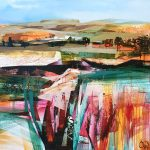 Celia Wilkinson September bold abstract colourful art for sale