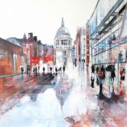 Alena Carvalho St Paul's Reflections II cityscape art for sale