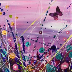 Tracey Thornton Purple Shimmer colourful floral art