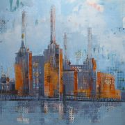 Richard Knight Battersea Blue aluminium print for sale