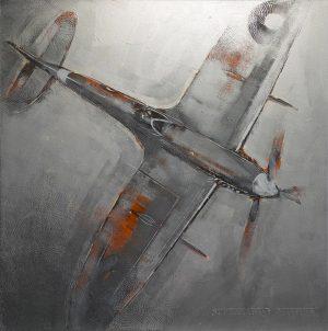 Richard Knight Supermarine Spitfire aluminium print for sale