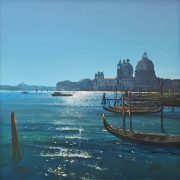 Howard Birchmore Venice Molo italian canal painting for sale