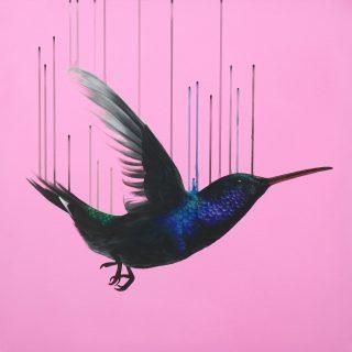 Louise McNaught God's Last Lovesong unframed Pink Bird Art for sale giclée print