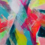 Jane Wachman Indian Summer colourful abstract artwork for sale