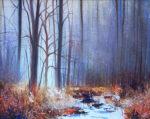 John Connolly 'Misty Autumn Light' landscape painting for sale