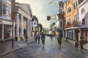 Andrew Hird Tunsgate and Guildhall Guildford oil art painting for sale