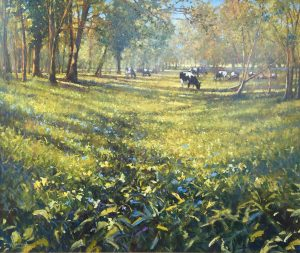 John Hammond Water Meadow Walk country painting for sale