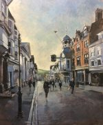 Andrew Hird Guildford High Street February Afternoon original painting for sale