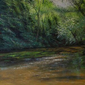 Grace Ellen Light Shimmer River Mole surrey painting for sale