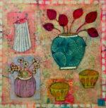 Emma Forrester Spring Delights still life floral vases painting for sale