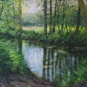 Grace Ellen Waters Edge River Mole surrey river art for sale