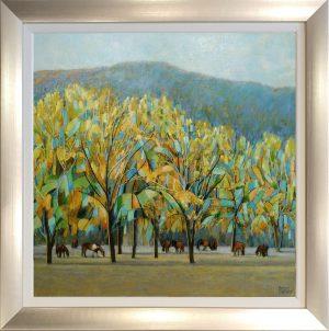 Hazel Barker A Magical Day in Malijai Provence framed