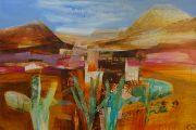 Celia Wilkinson Bliss orange desert landscape art for sale