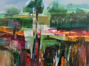 Celia Wilkinson Fractured Light original landscape art for sale