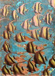 Paul Fearn Idol copper wall art painting