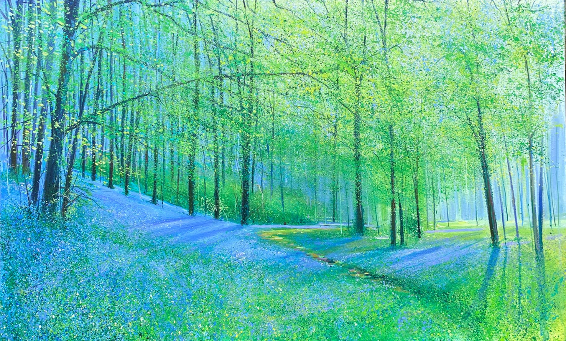 John Connolly Lockdown Blues magical forest painting for sale