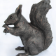 Suzie Marsh Rufus Squirrel copper resin sculpture art for sale