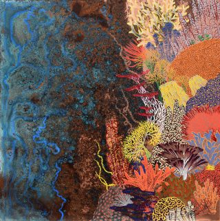 Paul Fearn The Wall II colourful coral reef artwork for sale