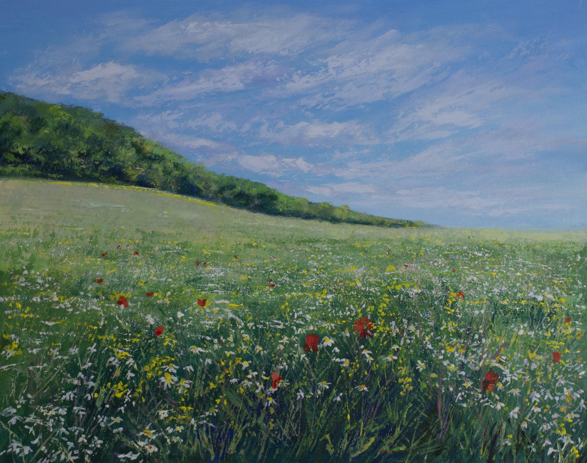 Grace Ellen Surrey Wildflowers Chantry Woods painting for sale