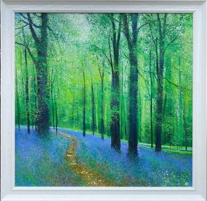 A Breath of Spring Blue Connolly framed