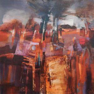 Celia Wilkinson Autumn Treasure autumnal abstract art for sale