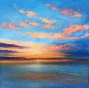 John Connolly Blazing Skies sunset seascape painting for sale