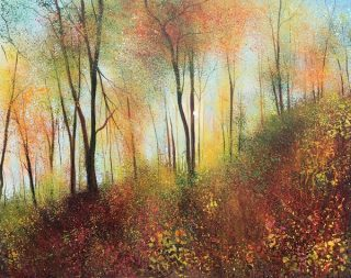 John Connolly Feels like Autumn woodland painting for sale
