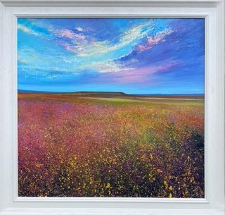 Pink Heather Connolly framed