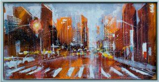 RK0387 that sixth avenue buzz 37x74cm framed