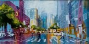 RK0389 sixth avenue crossing 34x70cm 2