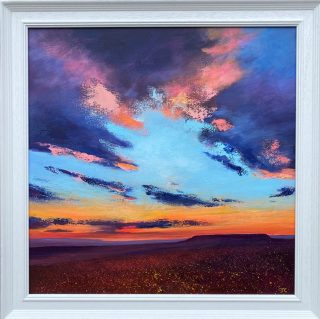 Strange Evening Colours Connolly framed