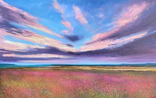 John Connolly Towards Stanage Edge meadow painting for sale