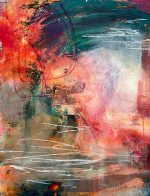 Kasia Clarke Stone Across The Water abstract painting for sale