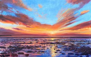 Morecambe Bay sunset III John Connolly 100x60cm