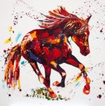 Penny Warden On Cloud modern horse painting for sale