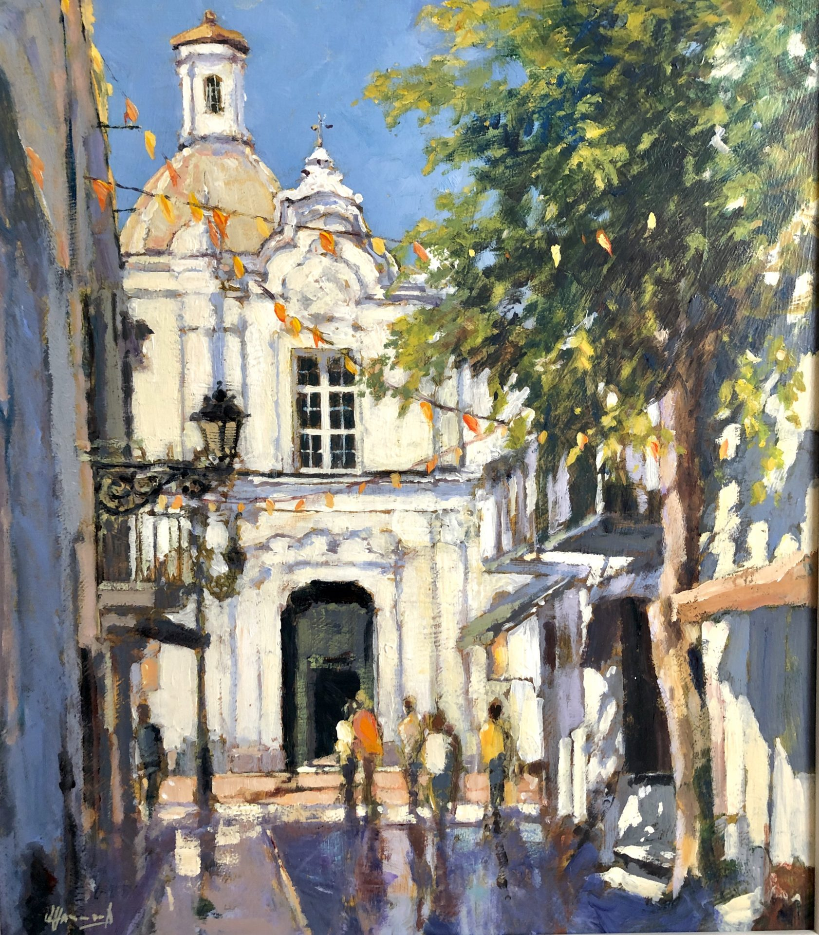 John Hammond Blue Sky Anacapri italy painting for sale