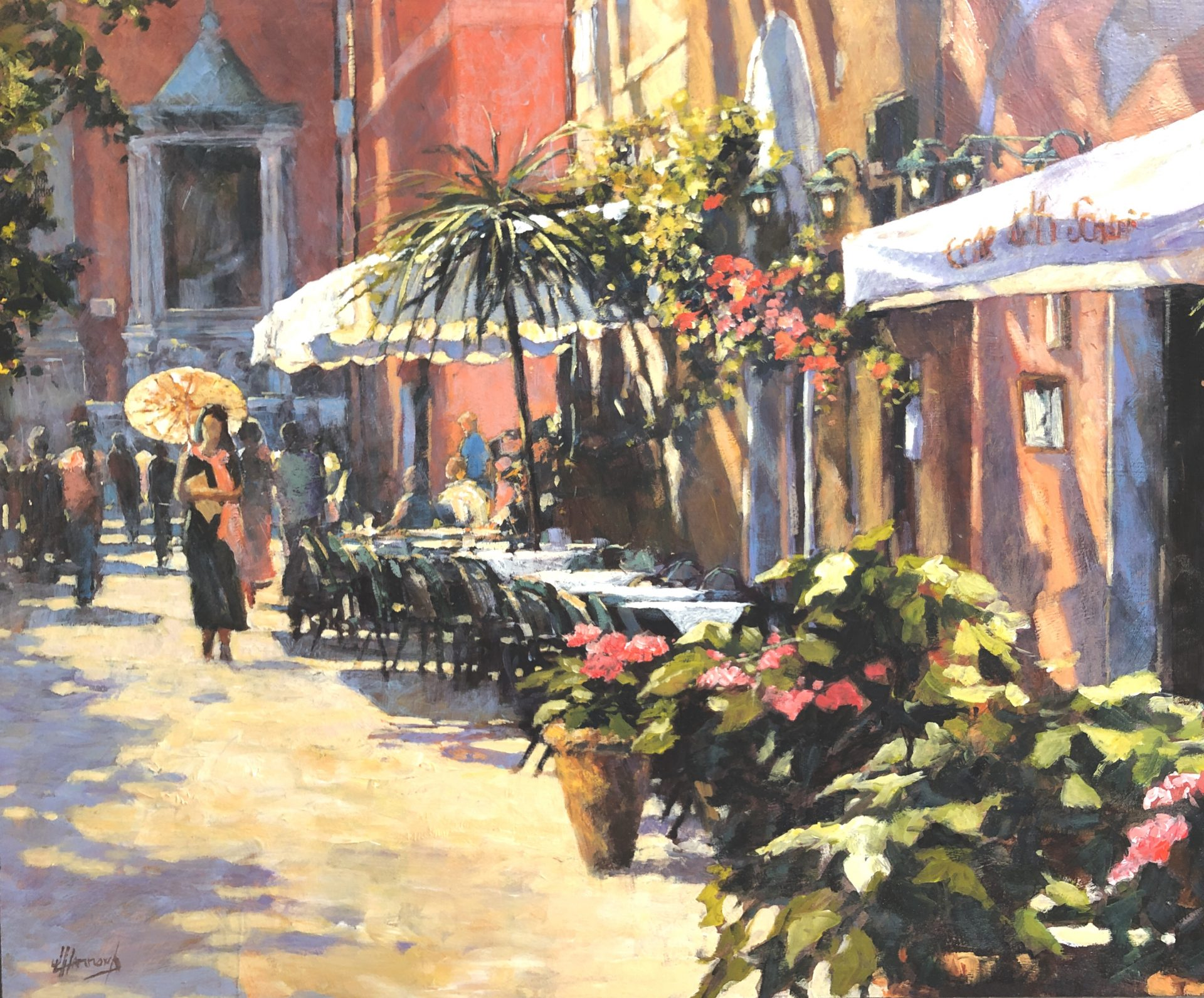 John Hammond The Parasol Rome italy painting for sale
