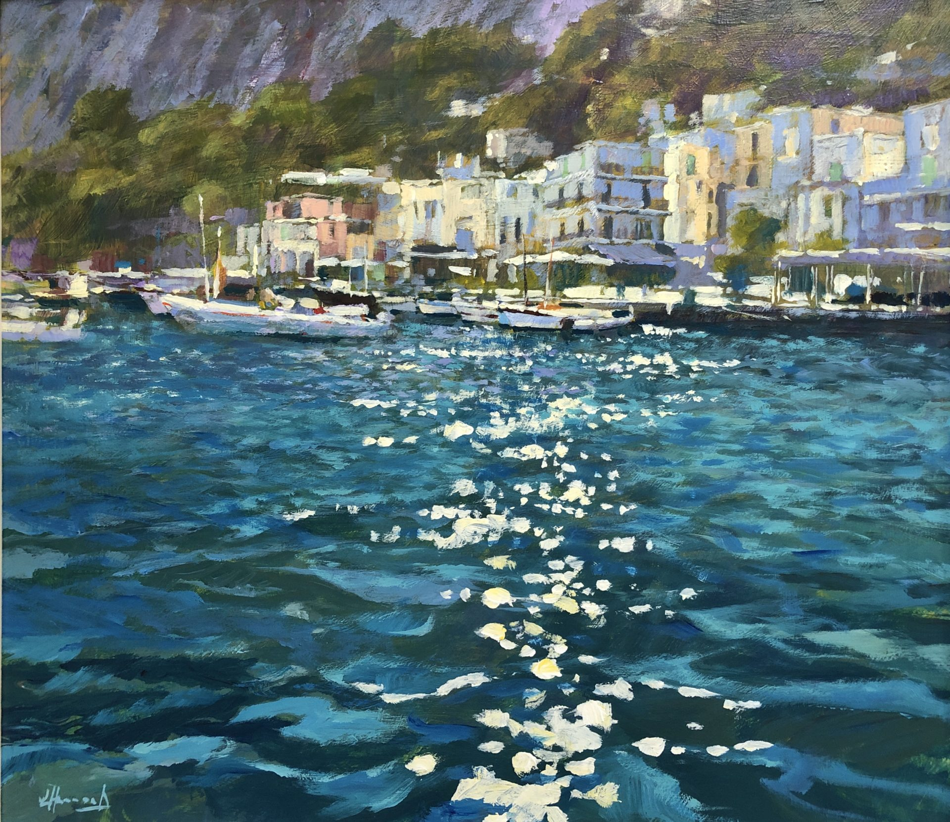 jh51 20 Approaching the Shore Capri 40x45cm