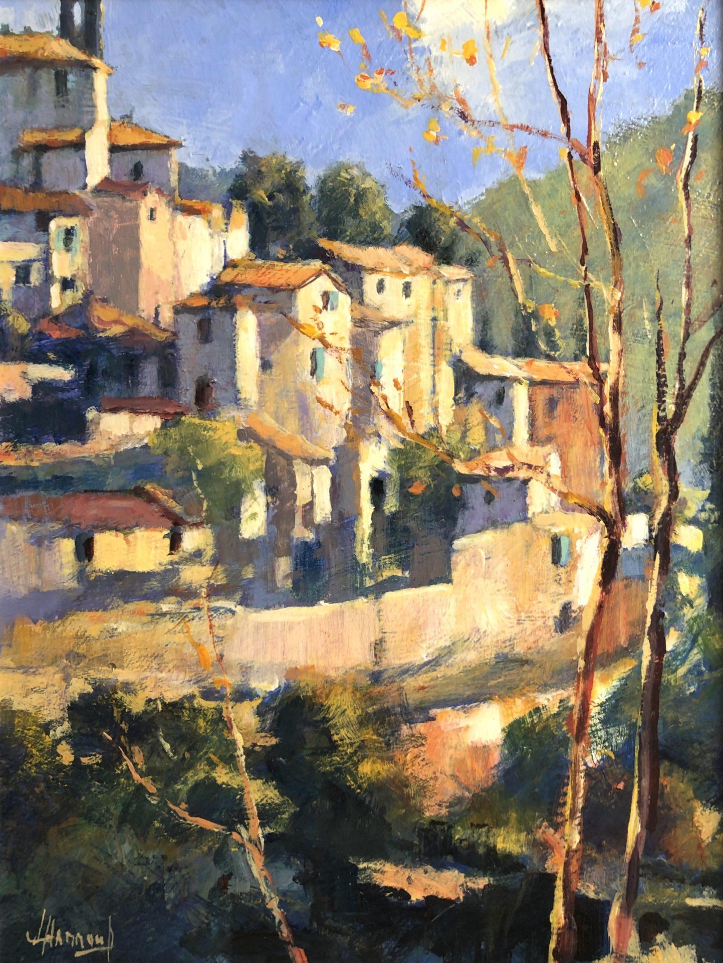 John Hammond Tuscan Hilltop italian painting for sale