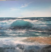 Into the blue Howard Birchmore 100x100cm