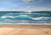 Porthmeor Beach St Ives Howard Birchmore 100x70cm