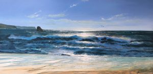 Howard Birchmore Thurston Beach Devon painting for sale