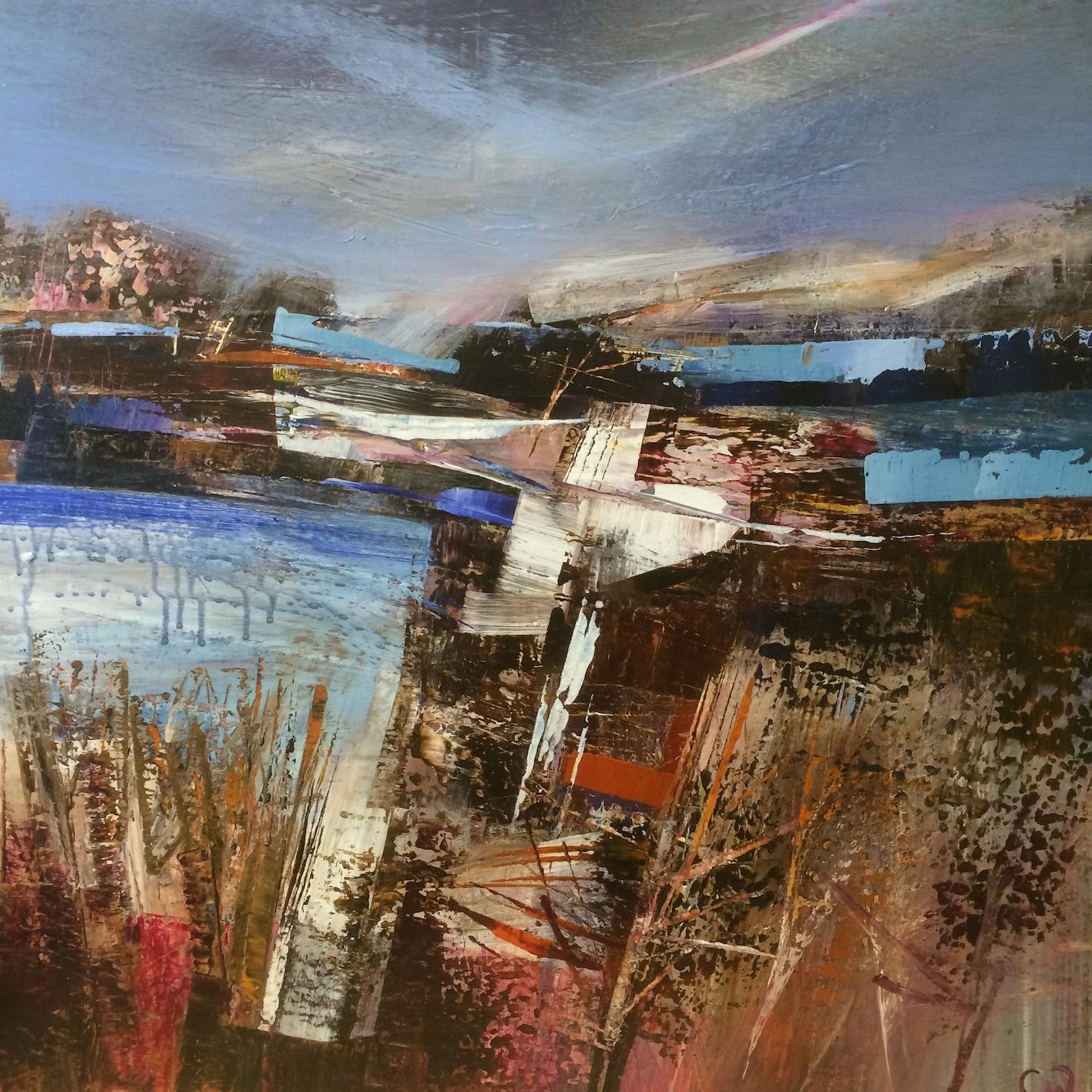 Unyielding Acrylic on canvas 80x80cm Celia Wilkinson