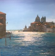 Howard Birchmore Venice Morning italian city painting for sale