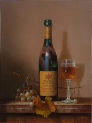 Zoltan Preiner Schiopetto Sauvignon traditional oil art painting for sale
